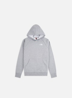 The North Face - Raglan Red Box Hoodie, TNF Light Grey Heather/White