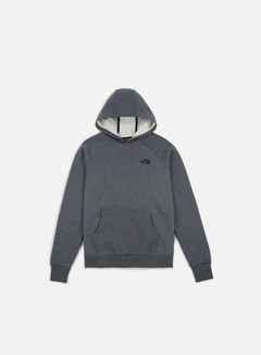 The North Face - Raglan Red Box Hoodie, TNF Medium Grey Heather