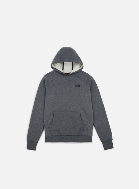 felpe the north face raglan red box hoodie tnf medium grey heather