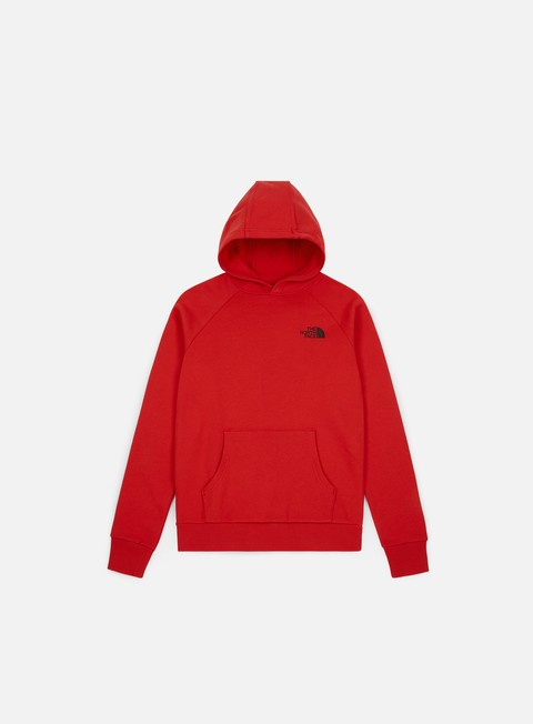 Outlet e Saldi Felpe con Cappuccio The North Face Raglan Red Box Hoodie