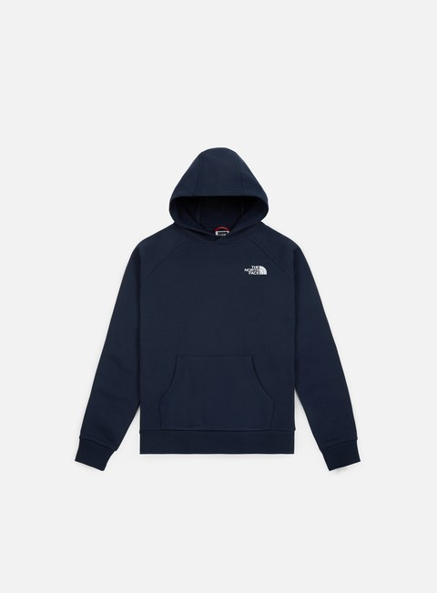 felpe the north face raglan red box hoodie urban navy
