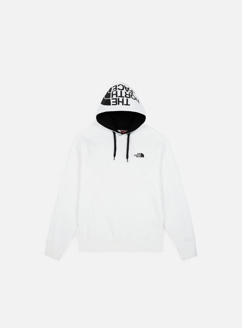 felpe the north face seasonal drew peak hoodie tnf white tnf black