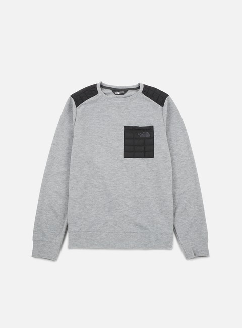 felpe the north face slacker thermoball crewneck medium grey heather