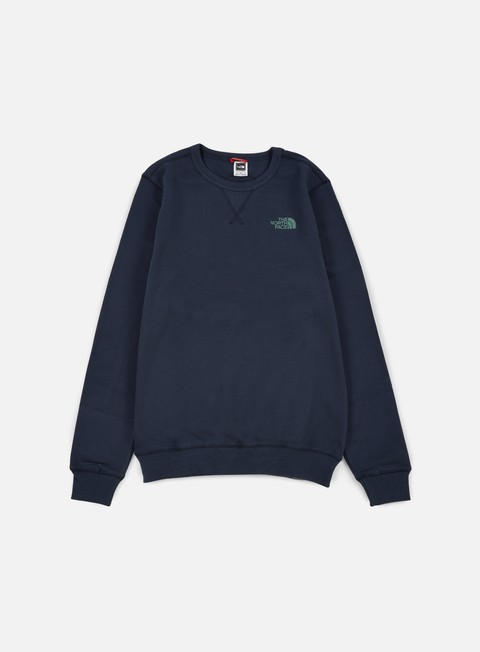 felpe the north face street fleece crewneck urban navy