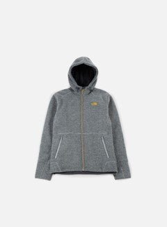 The North Face - Zermatt FZ Hoodie, Monument Grey Dark Heather/Asphalt Grey