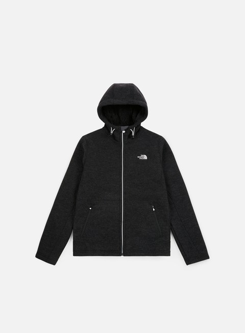felpe the north face zermatt fz hoodie tnf black black heather