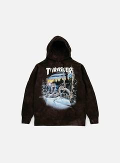 Thrasher - 13 Wolves Hoodie, Black Tie Dye 1