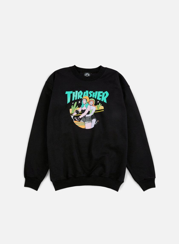 Thrasher - Babes Crewneck, Black