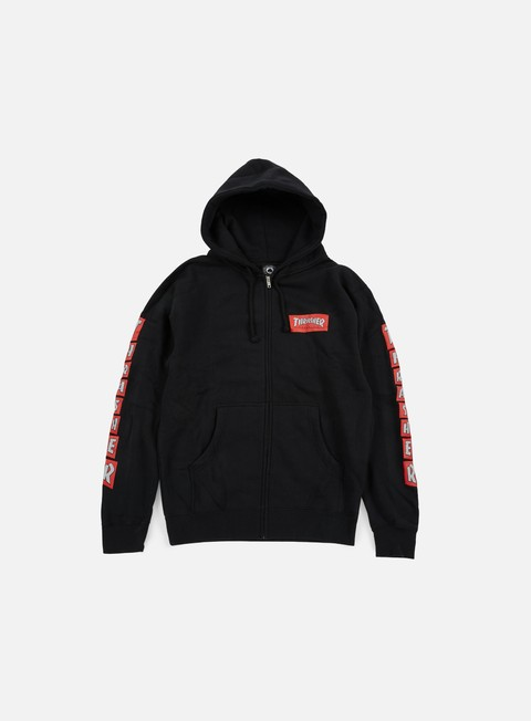 Hooded Sweatshirts Thrasher Boxed Logo Zip Hoodie
