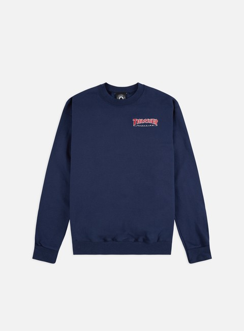 Crewneck Sweatshirts Thrasher Embroidered Outlined Crewneck