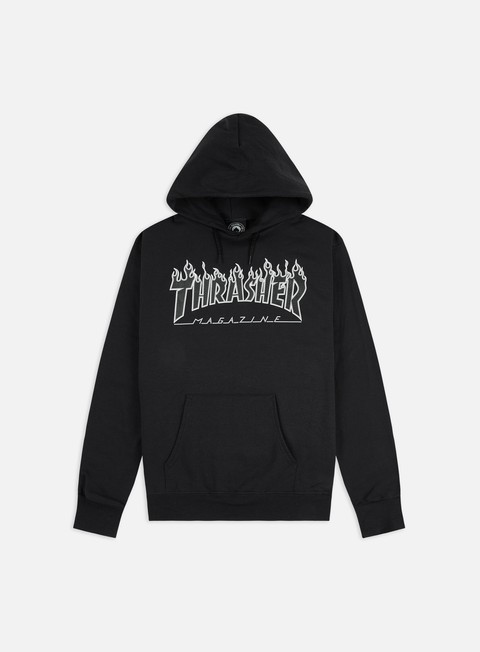 Hooded Sweatshirts Thrasher Flame Hoodie