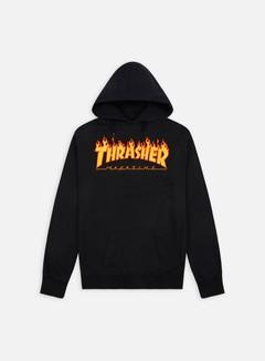 Thrasher - Flame Logo Hoodie, Black 1