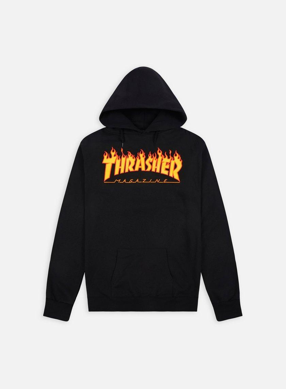 Thrasher - Flame Logo Hoodie, Black