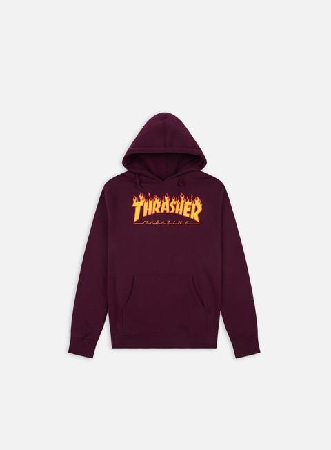 felpe thrasher flame logo hoodie maroon