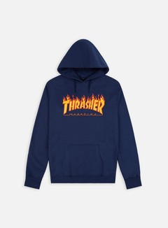 Thrasher - Flame Logo Hoodie, Navy 1