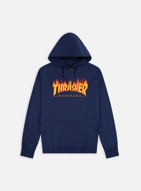 felpe thrasher flame logo hoodie navy