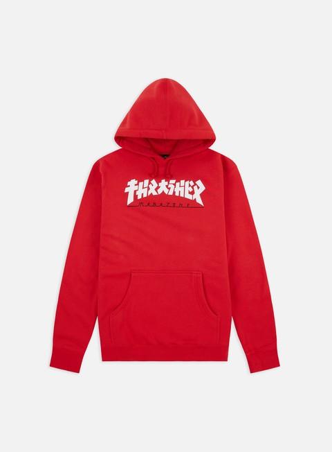 Hooded Sweatshirts Thrasher Godzilla Hoodie