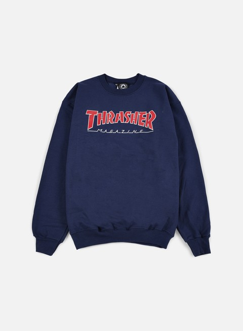 felpe thrasher outlined crewneck navy