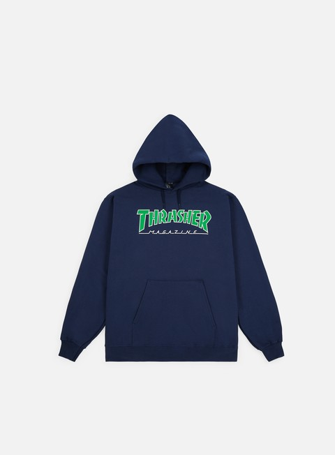 Sale Outlet Logo Sweatshirts Thrasher Outlined Hoodie