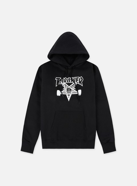 felpe thrasher skate goat hoodie black