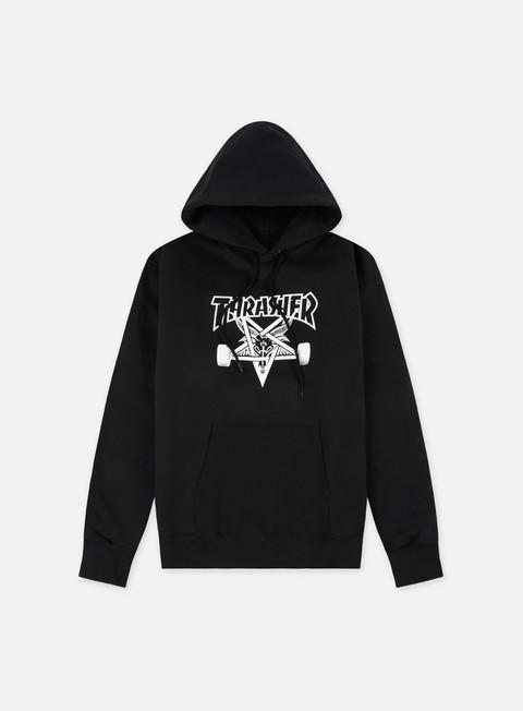 felpe thrasher skate goat hoodie black