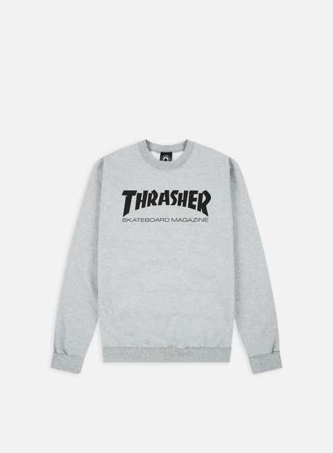 felpe thrasher skatemag crewneck grey