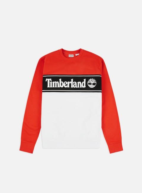 Sale Outlet Crewneck Sweatshirts Timberland Cut & Sew Lin Logo Crewneck
