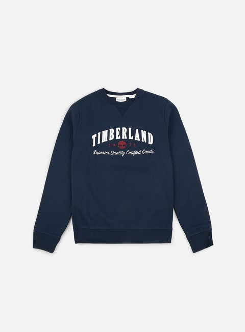 felpe timberland exeter river graphic brand crewneck dark sapphire