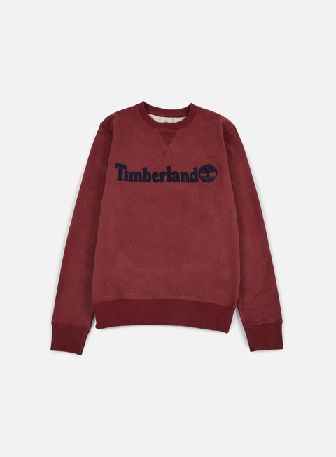felpe timberland exeter river timberland crewneck dark port heather