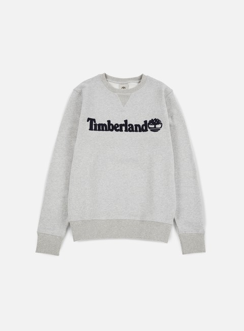 felpe timberland exeter river timberland crewneck medium grey heather