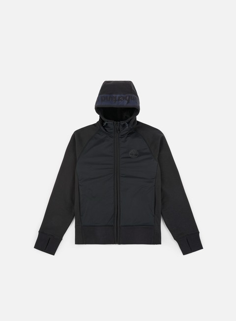 felpe timberland mix media hoodie black