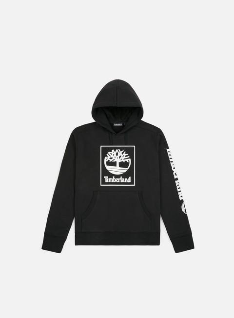 felpe timberland seasonal logo hoodie black