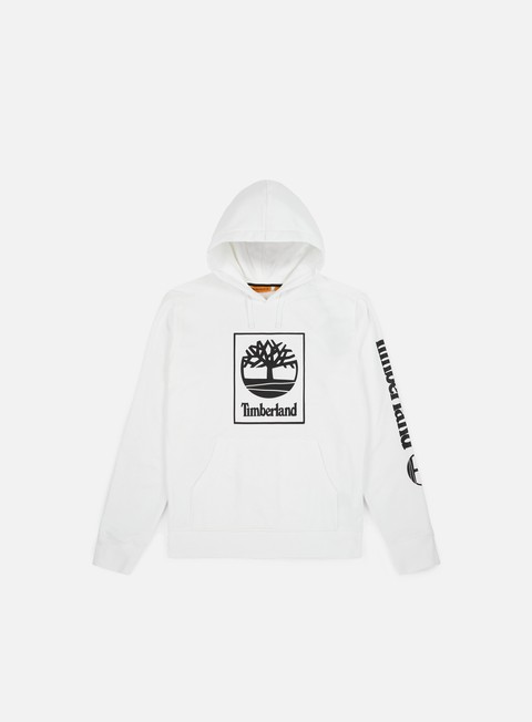 felpe timberland seasonal logo hoodie white