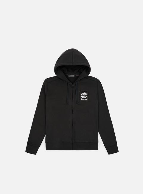 felpe timberland seasonal zip hoodie black