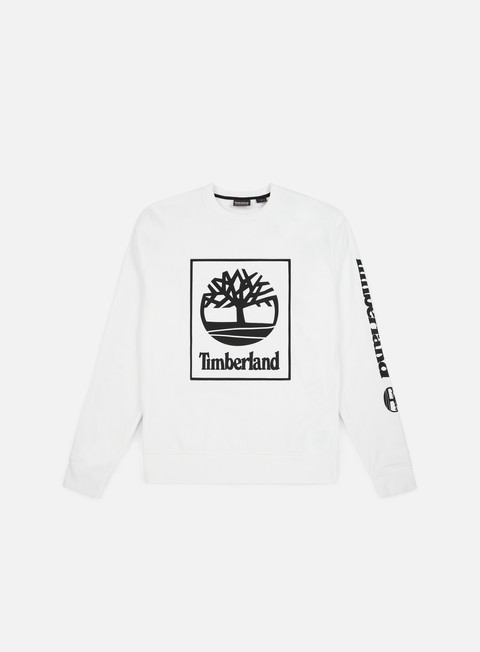 felpe timberland tree seasonal crewneck white