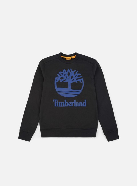 felpe timberland tree stacked crewneck black