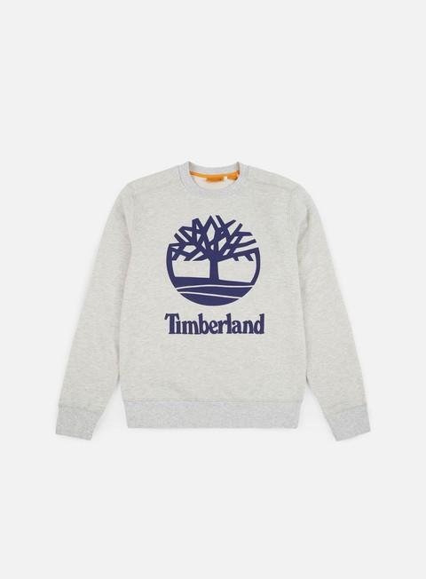 felpe timberland tree stacked crewneck micro chip heather grey