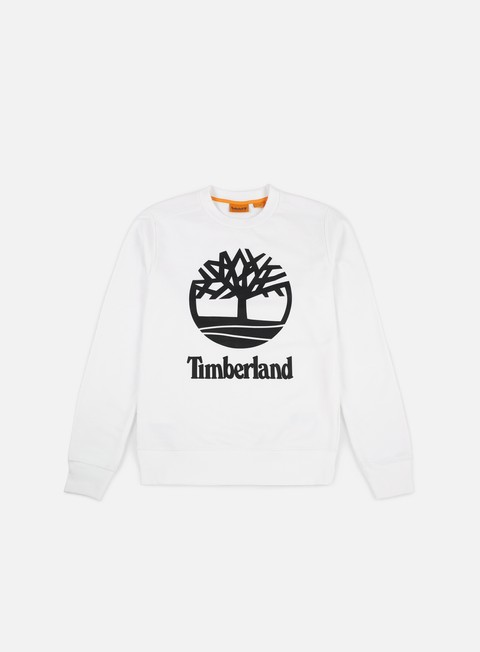 felpe timberland tree stacked crewneck white
