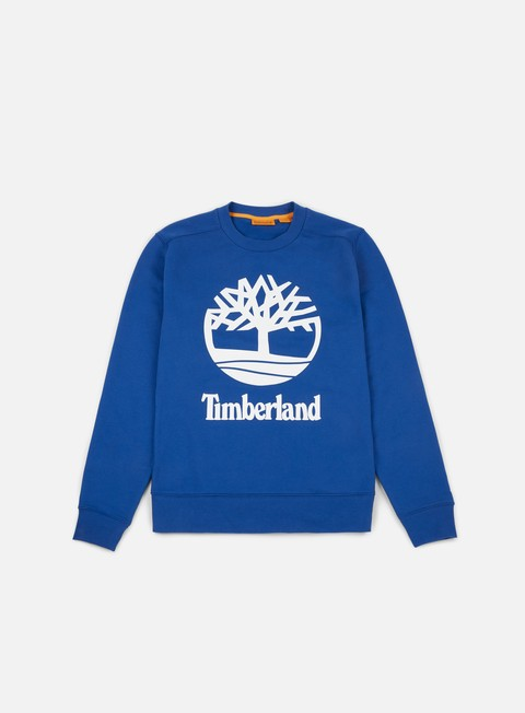 felpe timberland tree stacked crewneck yale blue