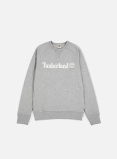 Timberland - Westfield River Logo Crewneck, Medium Grey Heather