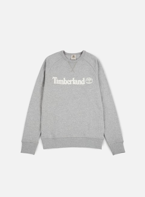 felpe timberland westfield river logo crewneck medium grey heather