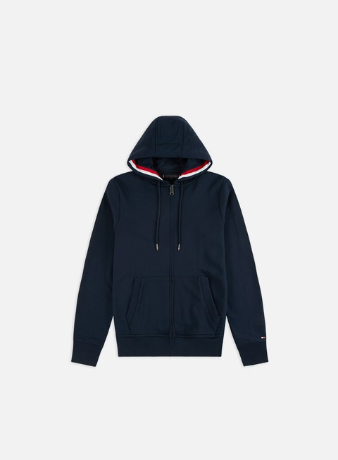 Outlet e Saldi Felpe con Cappuccio Tommy Hilfiger Basic Global Stripe Zip Hoodie