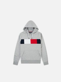 Tommy Hilfiger - Flag Chest Insert Hoodie, Cloud Heather