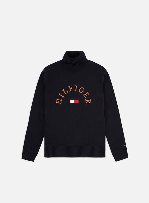 Outlet e Saldi Maglioni e Pile Tommy Hilfiger Hilfiger Flag Roll Neck Sweater