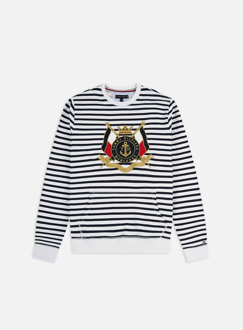 Outlet e Saldi Felpe Girocollo Tommy Hilfiger Naval Striped Crewneck