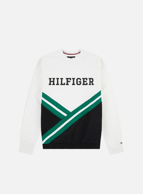 Sale Outlet Crewneck Sweatshirts Tommy Hilfiger Oversized Rib Insert Crewneck