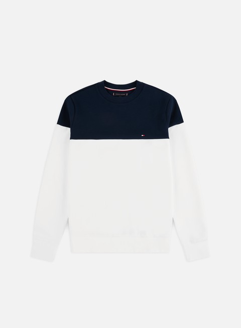Outlet e Saldi Felpe Girocollo Tommy Hilfiger Pieced Colorblock Crewneck