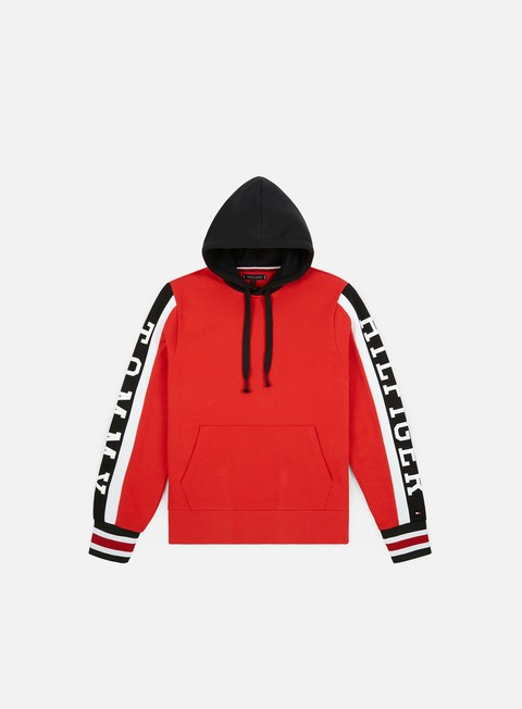 Hooded Sweatshirts Tommy Hilfiger Relaxed Sleeve Branded Hoodie