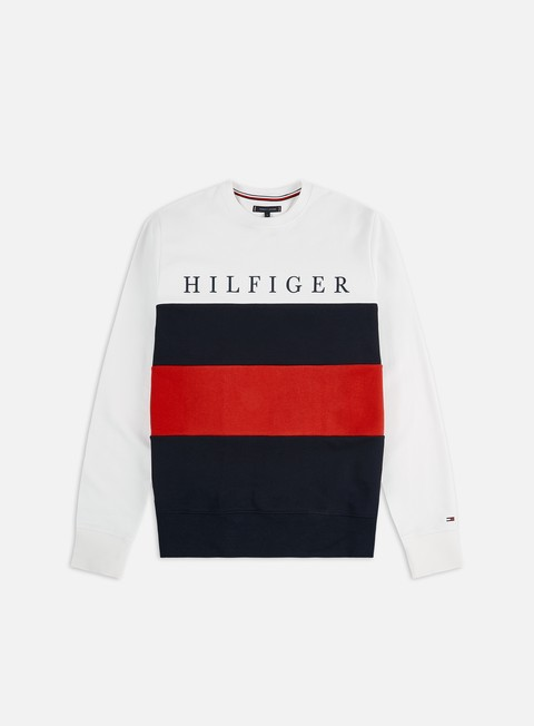 Outlet e Saldi Felpe Girocollo Tommy Hilfiger Striped Color Block Crewneck