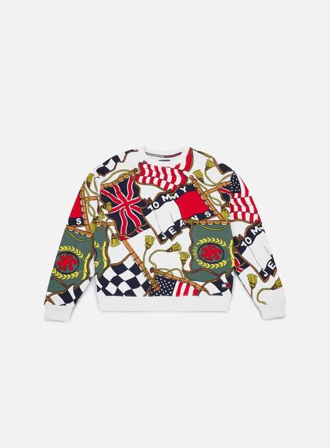 Crewneck Sweatshirts Tommy Hilfiger TJ 90s AOP Hknit Crewneck